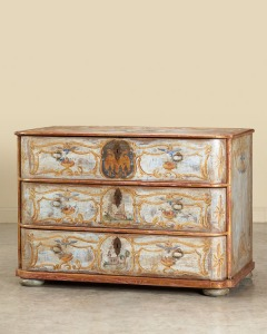 Carl Moore Antiques - A c. 1770 German Baroque period chest of drawers