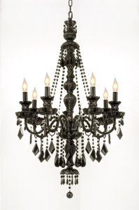 Black Crystal Chandelier - Black Chandelier