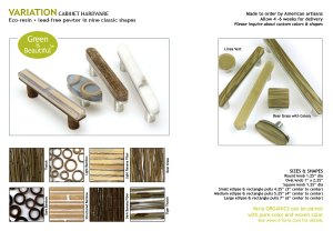 Spectra Decor, Variation Series - Eco-resin & Lead free Pewter