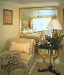 Sitting Area in Master Bedroom.  Interior Design by Stacy Lapuk.