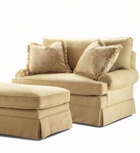 Century Sleeper Chair & Ottoman
